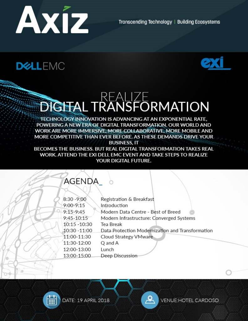 Agenda do Evento: Realize Digital Transformation